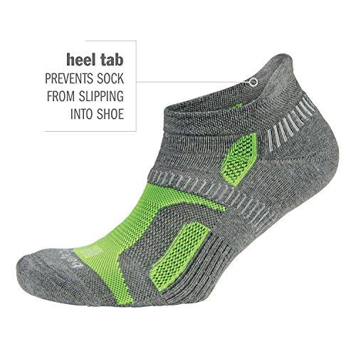 Balega Hidden Contour Socks For Men and Women (1-Pair), Light Grey, Large