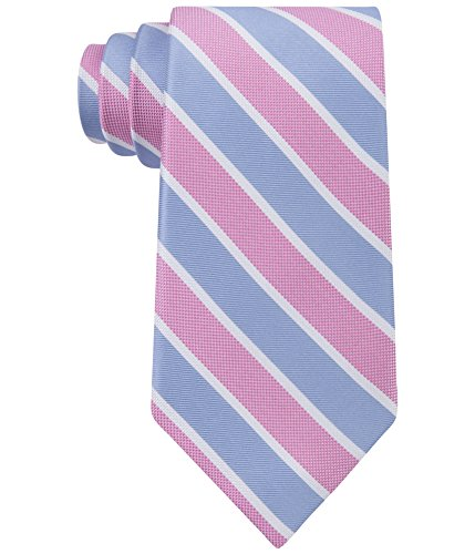 Club Room Mens Perfect Stripe Tie (One Size, Pink) Club Room Mens Silk Tie