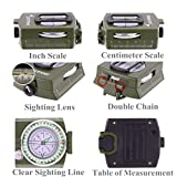Sportneer Military Lensatic Sighting Compass with Carrying...