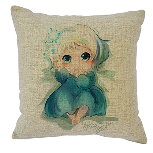 Garnet Hill Kids - Home Fashion Girl Throw Pillow Covers Cotton Linen Pillow Case Decorative Pillowcses Invisible Zipper