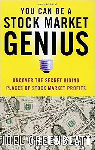 amazon you can be a stock market genius joel greenblatt finance