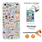 c00945 - Girly Collage Dream Catcher Coffee Smiley Emoji Best Friend Love you to the moon Design iphone SE 2016 / iphone 5 5S Fashion Trend CASE Ultra Slim Light Plastic 0.3MM All Edges Protection Case Cover-Clear