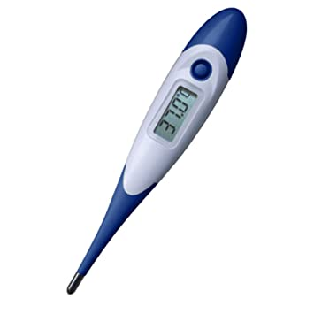 Sylvia QER Digital Basal Termómetro con Soft cabeza fiebre indicatio hogar termómetro oral y brazos para