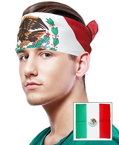 Mexican Flag Bandana Mexican Bandana Mexico Bandana Mexico Flag Bandana Headband
