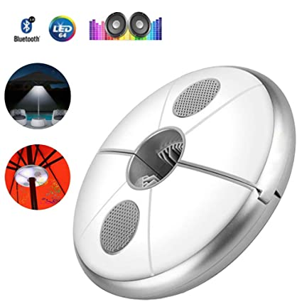 CLDGF Lampara LED Paraguas Lampara Recargable Altavoz Bluetooth Wireless 48 LED Lampara Luz De Camping Al