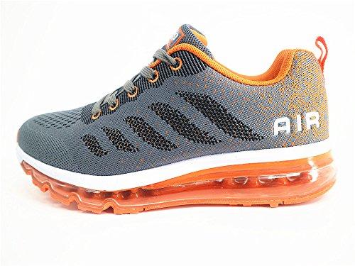 Ginnastica Arancione Scarpe Grigio Fitness Interior da Sportive Air Running Corsa all'Aperto Sneakers Uomo Casual Donna Basse wIECxqZ6W1