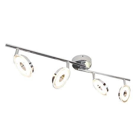 Deckenleuchte chrom LED Modern Zeitlos Warmweiß dimmbar