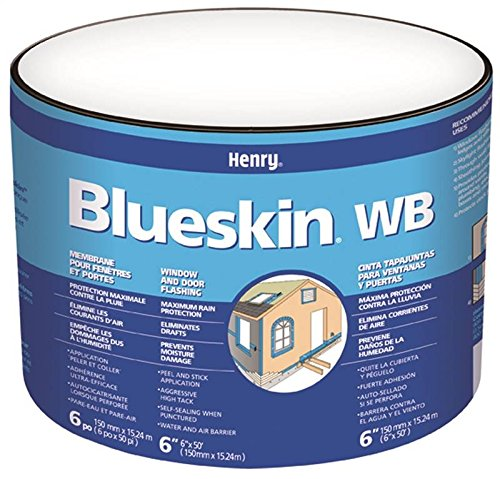 Roofing Membrane (Henry BH200WB4559 Blueskin Weather Barrier Self-Adhesive Waterproofing Membrane, 50' Length x 4