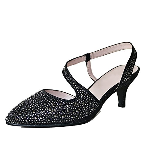 cf81749fe7a28 Tiras Medio Bajo Rock De Boda Pedrería Sandalias Plata En Styles Tobillo  Oro Nuevo Fiesta Negro Mujer Gatito Novia 007 Tacón Zapatos On Salón ZqZrPw6