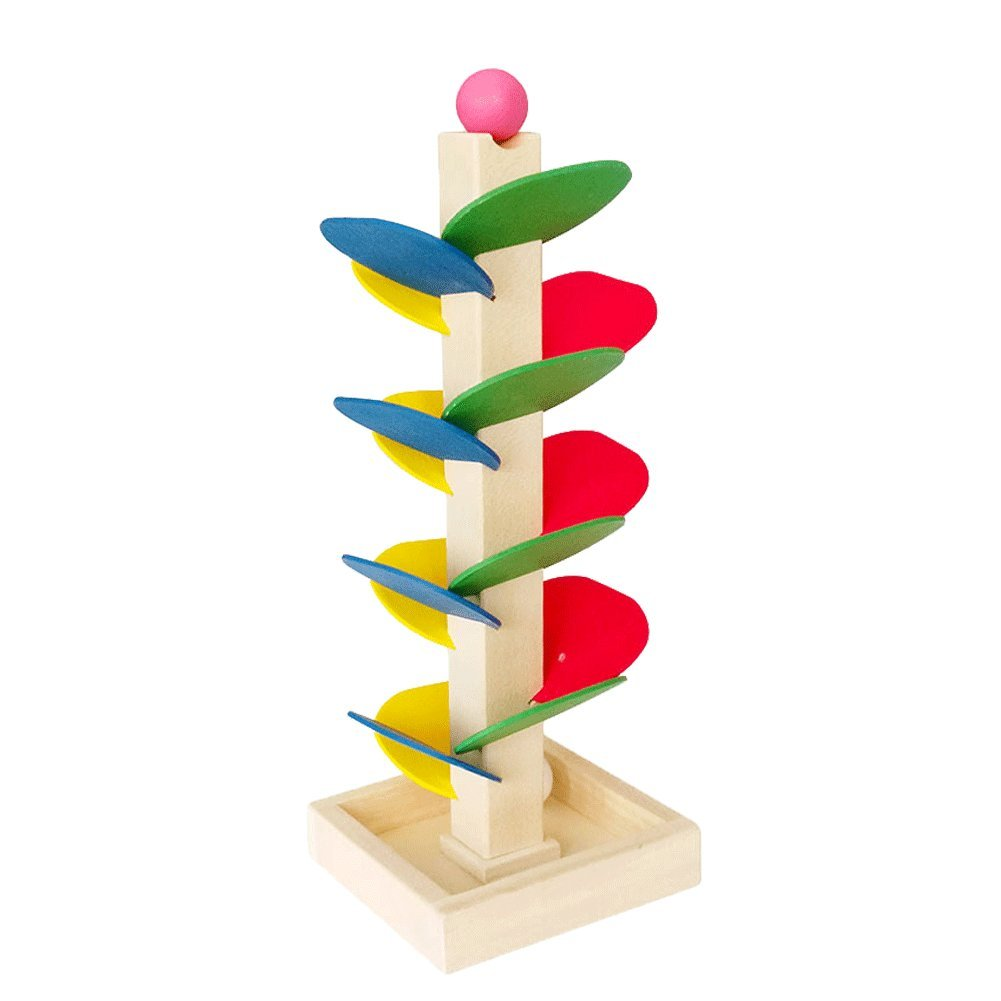 Educational Toy Blocks Wooden Tree Marble Ball Run Track Game Baby Kids Children Intelligence Wooden Baby Toys by General (Image #1)