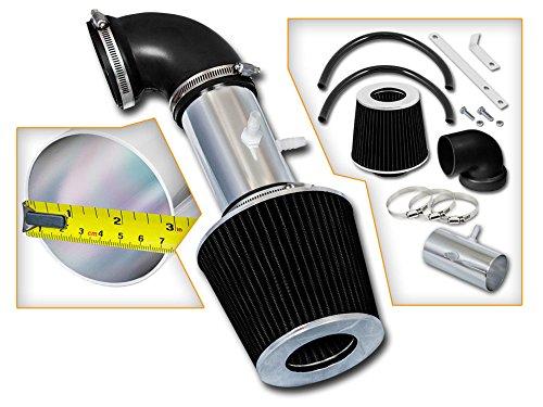(Velocity Racing Black Short Ram Air Intake Kit + Filter 01-04 for Dodge Stratus 2.7L V6)