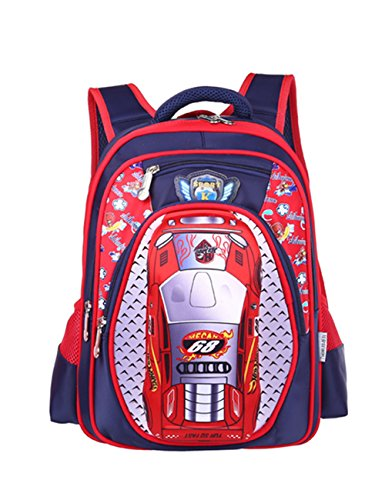 ..Classic Schoolbag Cars with Storage - 7