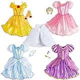 Disney Kids Princess Costume Wardrobe Set 10 Pieces Size 7/8