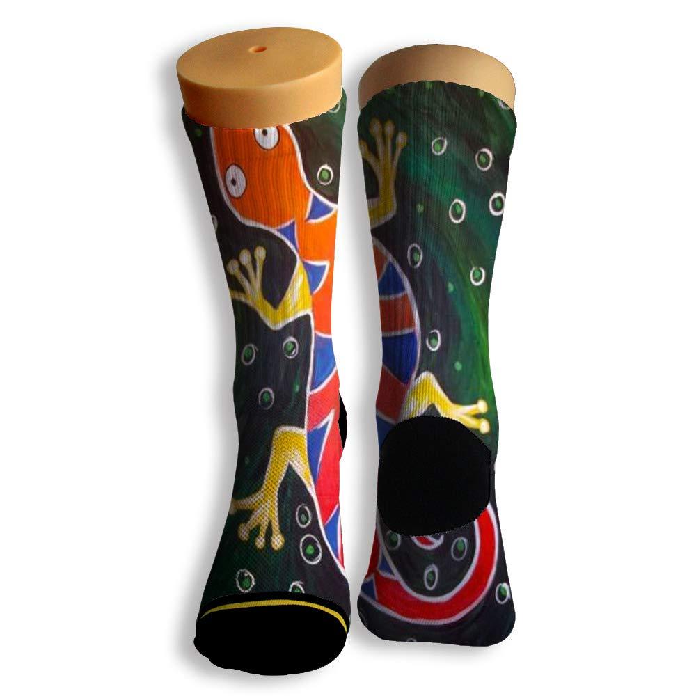 Basketball Soccer Baseball Socks by Potooy Big Gecko 3D Print Cushion Athletic Crew Socks for Men Women