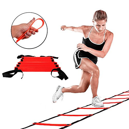 GSports Pro Agility Ladder Agility Training Ladder Speed Flat Rung with Carrying Bag by Neworkg