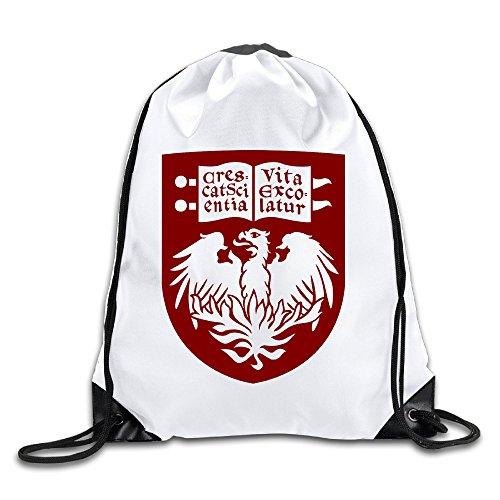 Hunson - Geek University Of Chicago Sport Bag Drawstring Sling Backpack For Men & Women Sackpack