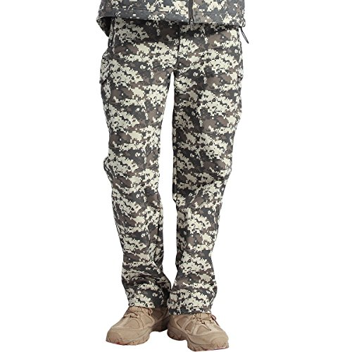 FREE SOLDIER Men's Tactical Pants Fleece Lining Pants for Winter Skiing Hiking Upgraded Style(ACU CAMO XL)