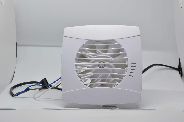 8W 110 m³//h Leiser Badlüfter mit Nachlauf Abluftventilator 100 mm 26 dB IP44