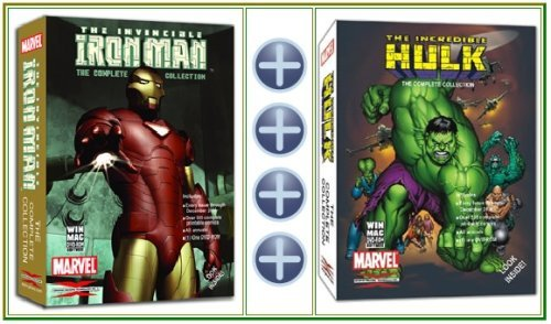 The Invincible Iron Man & The Incredible Hulk Marvel Comics Collectors Bundle on DVD-ROM