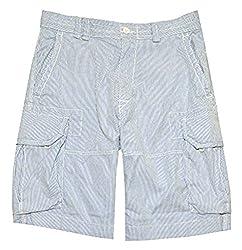Polo Ralph Lauren Mens Big and Tall Gellar Cargo Shorts, (Blue/White, 44B)
