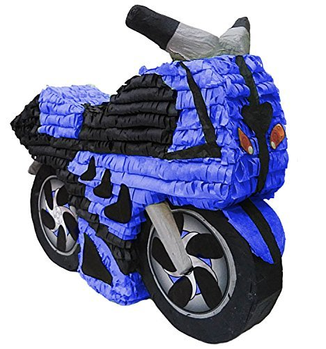 Aztec Imports, Inc. Blue Motorcycle Pinata -