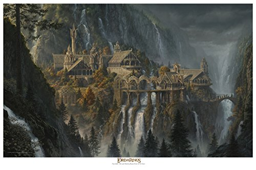 Rivendell Paper Giclee 16 x 24 from The Lord of the Rings