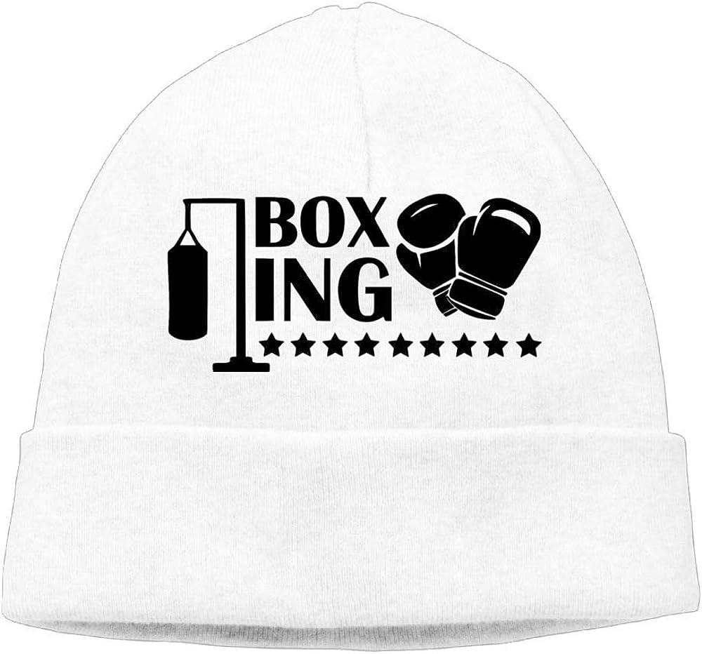 Oopp Jfhg Boxer Practice Beanie Knit Hat Ski Caps Men White