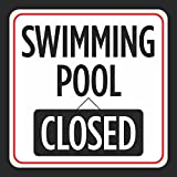 Poolmaster 40333 Swimming Pool Closed Sign For Residential Or Commercial Pools
