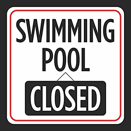 f49944f15d0 Amazon.com : Swimming Pool Closed Picture Print Red White Black Caution  Notice Swimming Pools Hot Tub Safety Signs Com, 12x12 : Office Products
