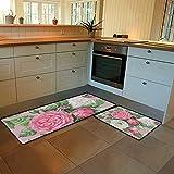 Kuizee Kitchen Mat Set of 2 Pieces Anti Fatigue