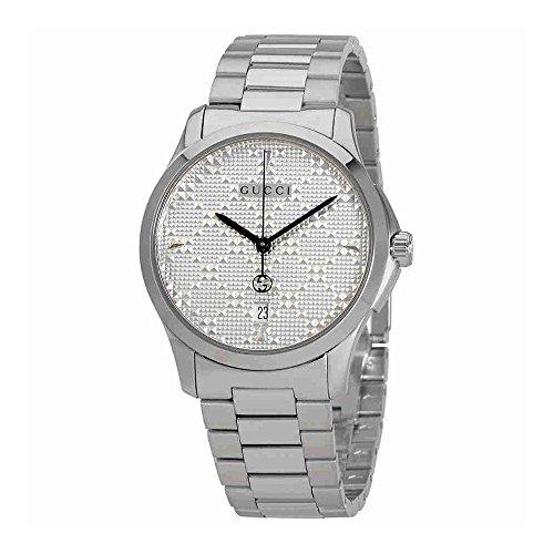 Gucci G-Timeless Diamante Silver Dial Ladies Watch (Gucci Ladies Wrist Watch)
