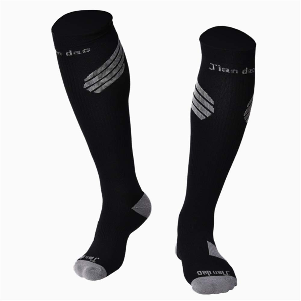ece74b2a2 Black Graduated Compression Compression Compression Socks Men's Compression  Socks Pack of 1Pair Sports Stockings for Running Athletic Edema Diabetic ...