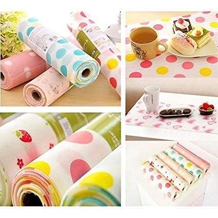 SHUANGYOU Kitchen Table Mat Drawer Liner Wardrobe Pad Cupboard Placemat Moisture-Proof 30 * 300cm 30x300cm (Multicolour) Pack Off 3PCS