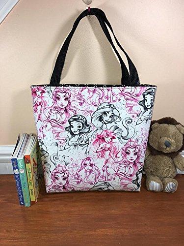 Bella Tote Bag (Girls Disney Princess Tote Bag, Kids Tote Bag, Book Bag)