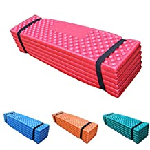 EDTara Outdoor Waterproof Mattress Sleeping Pad Ultralight Foam Camping Mat Easy Folding Mat 190 * 57 * 2 cm Red