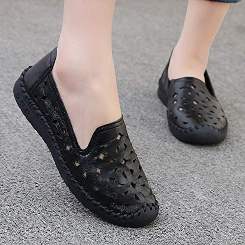señoras Zapatos Fondo Cuero Zapatos de FLYRCX de Sandalias Zapatos Trabajo Verano Suave Solo Planos Antideslizante Transpirable C xwv0S