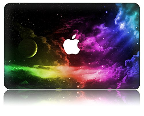 KEC MacBook 12 Inch Case Plastic Hard Shell Cover Protective A1534 Space Galaxy (Color Space)