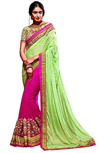 Gorgeous Green Saree - 8