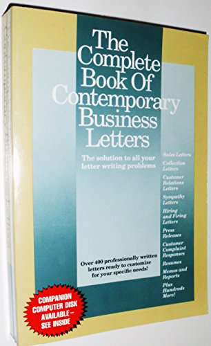 The Complete Book of Contemporary Business Letters (The solution to all your letter writing problems.)
