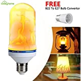 Lovelyhome Flickering Flame Bulbs Fire Upside Down Decorative LED Light  E27,(4 Lighting Modes