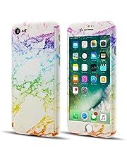 EYZUTAK 360 Full Cover Marble Case for iPhone