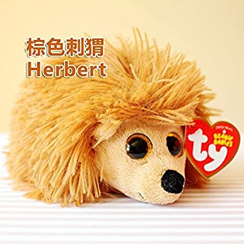 0427e3f9209 Amazon.com  Ty Beanie Babies Herbert the Brown Hedgehog Plush  Baby