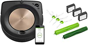 iRobot Roomba S9 (9150) Robot Vacuum and E & I Series Replenishment Kit, (3 High-Efficiency Filters, 3 Edge-Sweeping Brushes, and 1 Set of Multi-Surface Rubber Brushes)