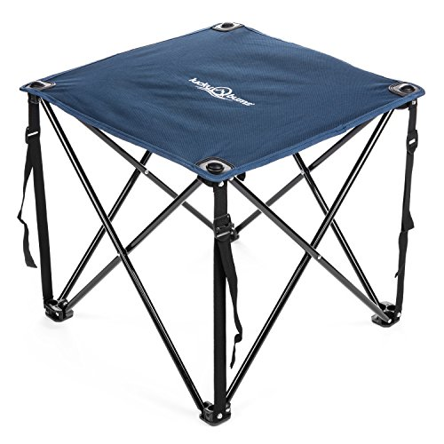Lucky Bums Quick Camp Table with Carrying Bag, Blue - Sizes Tent Table
