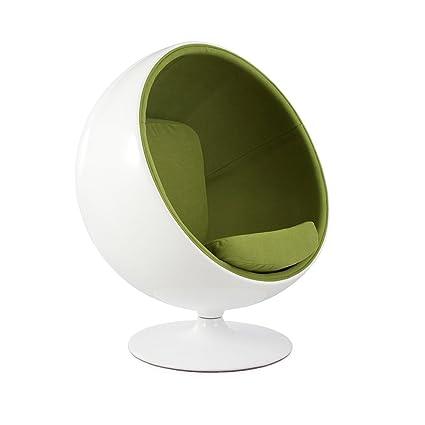 Merveilleux Vertigo Interiors Aarnio Inspired Mid Century Modern Ball Globe Swivelling  Lounge Reading Chair (Green)