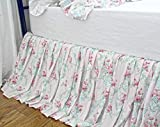 Shabby Floral Dust Ruffle Bed Skirts