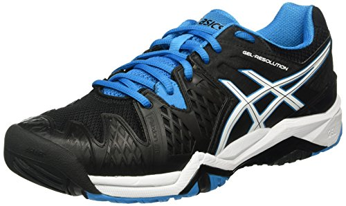 Asics Gel-Resolution 6, Zapatillas de Tenis para Hombre Multicolor (Black/Blue Jewel/White)