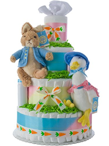 Lil' Baby Cakes Peter Rabbit Neutral Diaper Cake by Lil' Baby Cakes