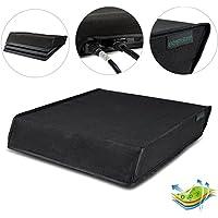 eXtremeRate Negro Cubierta de polvo horizontal para PlayStation 4 Consola PS4 Pro Diseño personalizado Capa doble Forro suave y nítido Impermeable a prueba de polvo Corte de precisión Puerto de cable de fácil acceso