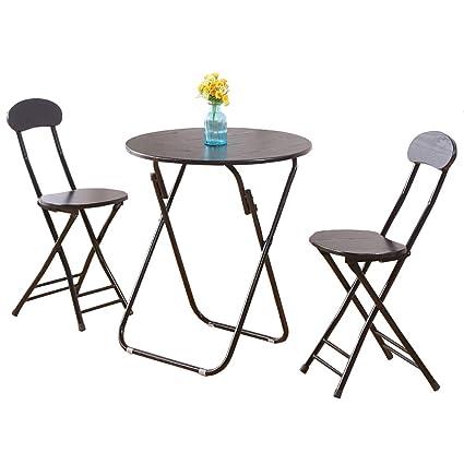 Amazon Com Yxx Wood Round Folding Kitchen Dining Table